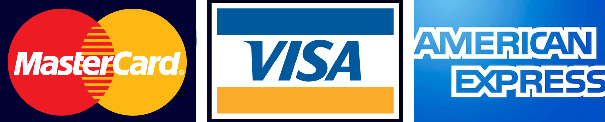Payments accepted: MasterCard, Visa, American Express